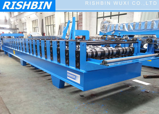 24 Stations Steel Decking Roll Forming Machine PLC Frequency Controller