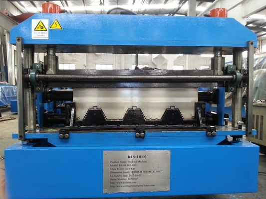 H Beam Frame Comflor Roll Forming Machine Double Chain Transmission
