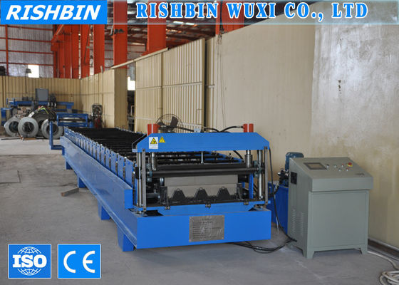 1250mm Hydraulic Cutting Metal Deck Roll Forming Machines with 26 Rollers Steps