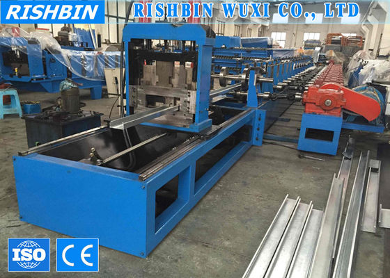China 40 m/min 7 Rollers High Speed Cee Purlin Roll Forming Machinery with 17 Roller Stations supplier