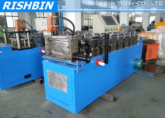 China 5.5 kw Ceiling Batten Rolling Form Machine 9 Stations for Furring Channel with Embossing Device supplier