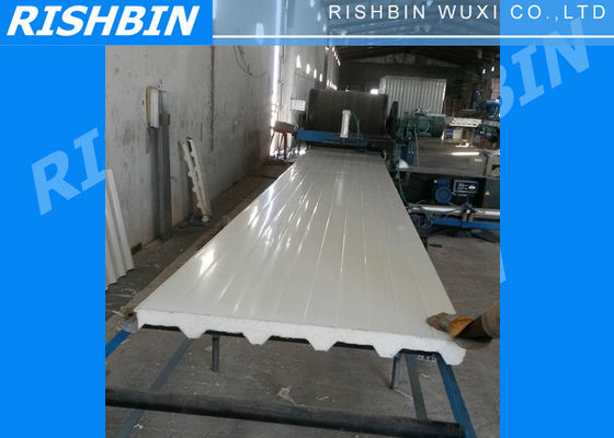 China Continuous PU Sandwich Panel Machine for Roof / Wall Panel 300KW supplier