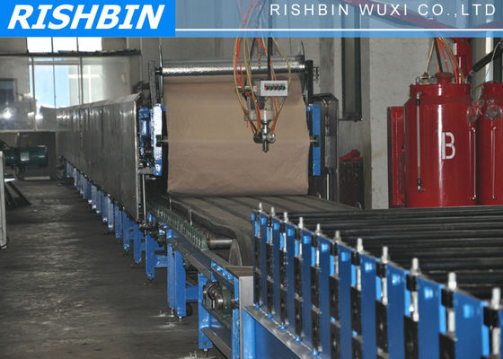 China Polyurethane PU Insulation Sandwich Panel Machine with Two Layers For Wall and Roof supplier