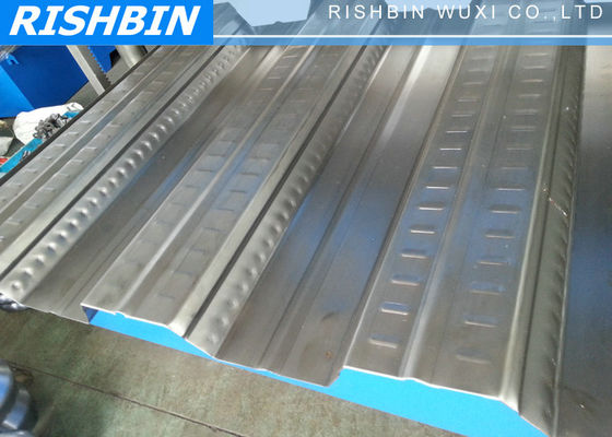 Galvanized Steel Sheet Roof Deck Roll Forming Machine with 688 mm 3 phase / 50 HZ