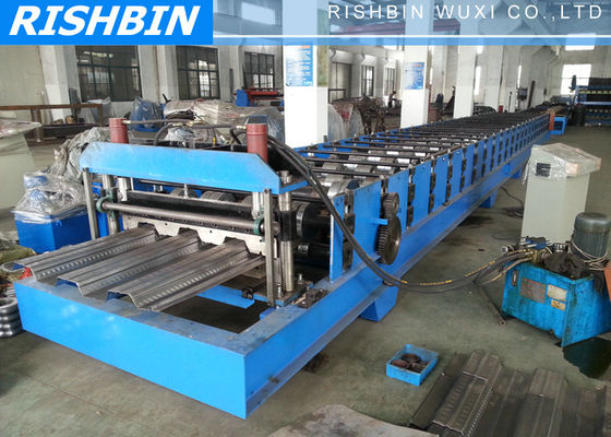 Manual Decoiler Comflor Deck Roll Forming Machine with 80 mm Shaft Diameter