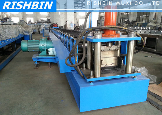 China Manual / Automatic Decoiler Steel Door Frame Roll Forming Machine with 15 KW Power supplier