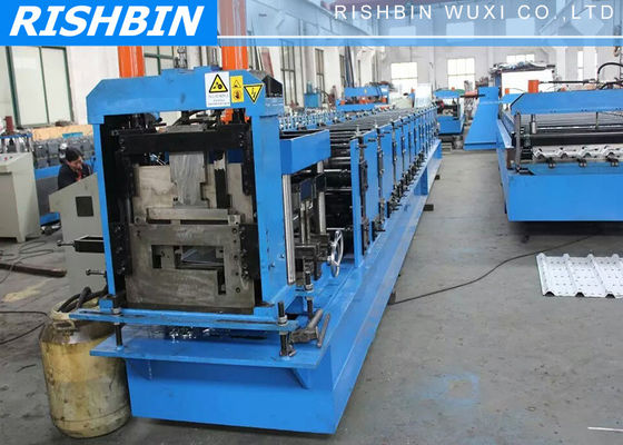 20 m / min Cee Zee Purlin Roll Forming Machine with Hydraulic Punching Device