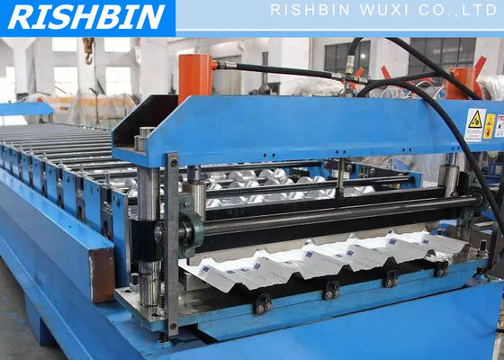 Metal Deck Roll Forming Machine with Hydraulic Cutting , 0.7mm - 2.0mm
